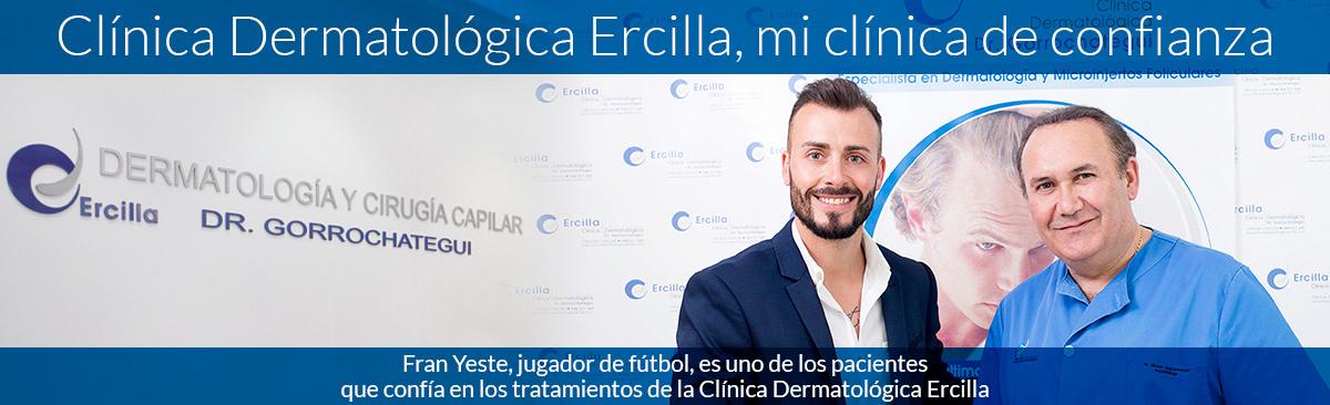 Fran Yeste, jugador de fútbol, es uno de los pacientes que confía en los tratamientos de la Clínica Dermatológica Ercilla