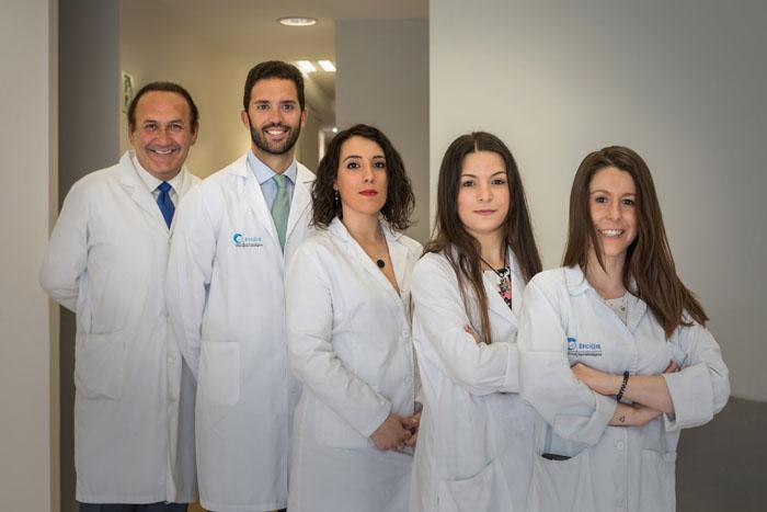 Equipo médico de la Clínica Ercilla