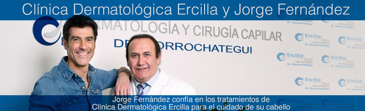 Jorge Fernández confía en los tratamientos de Clínica Dermatológica Ercilla para el cuidado de su cabello